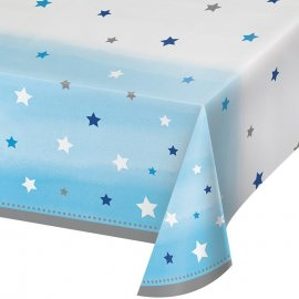 MANTEL DE PLASTICO 259 x 137 CM ONE LITTLE STAR - BOY