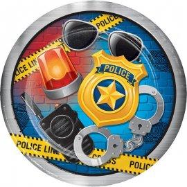 8 PLATOS 23 CM POLICE PARTY