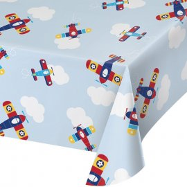 MANTEL DE PLASTICO 259 x 137 CM LIL' FLYER AIRPLANE