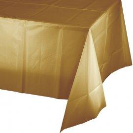 Mantel De Plástico 274 X 137 cm Oro