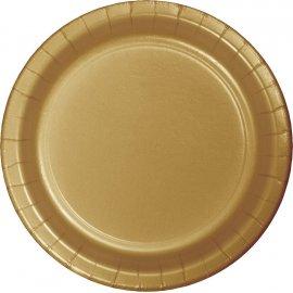 8 Platos 23 cm Oro