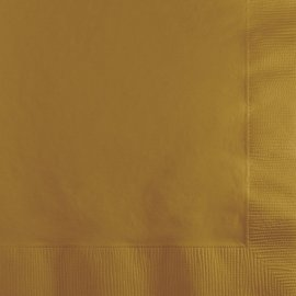 20 Servilletas 25 cm Oro