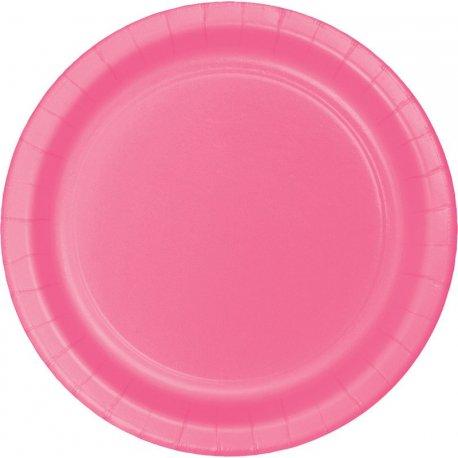 8 Platos 18 cm Rosa