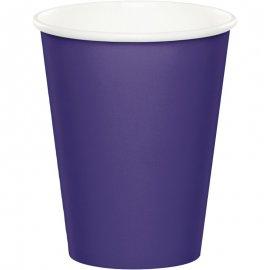 8 Vasos 0,266 L. Púrpura
