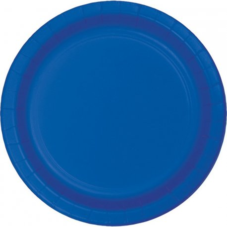 8 Platos 18 cm Azul Cobalto