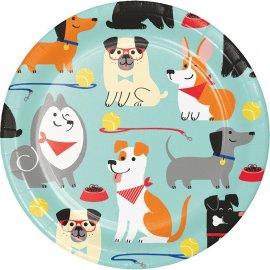 8 Platos Dog Party 18 cm