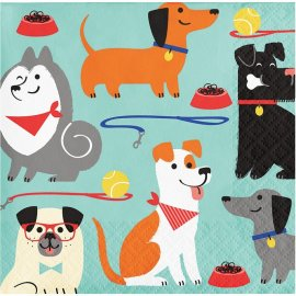 16 Servilletas Dog Party 25 cm