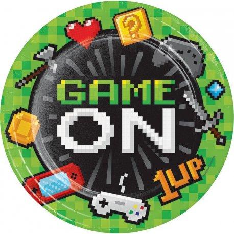 8 Platos Gaming Party 22 cm