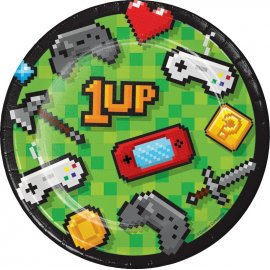 8 Platos Gaming Party 18 cm
