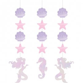 3 Decoraciones Colgantes Irid Mermaid Shine