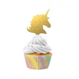 12 Kit Cupcake Unicorn Sparkle
