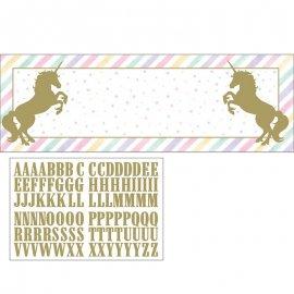 Banner Con Stickers Unicorn Sparkle