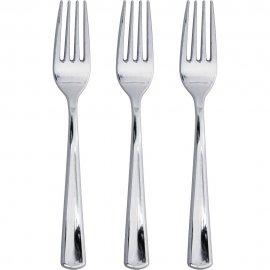 24 Tenedores Metalizados SILVER SENS
