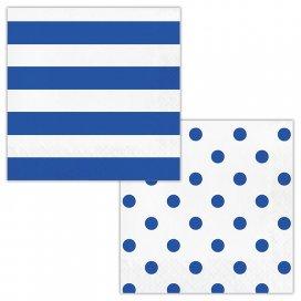 Cobalt Dots and Stripes