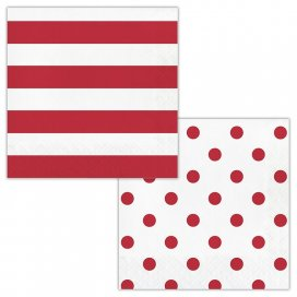 Classic Red Dots and Stripes
