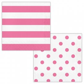 Candy Pink Dots and Stripes
