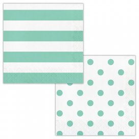 Fresh Mint Dots and Stripes