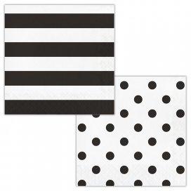Black Velvet Dots and Stripes